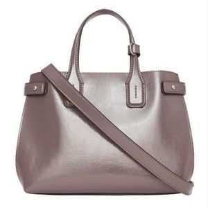 Burberry Small Banner Sepia Grey Glossy Calfskin